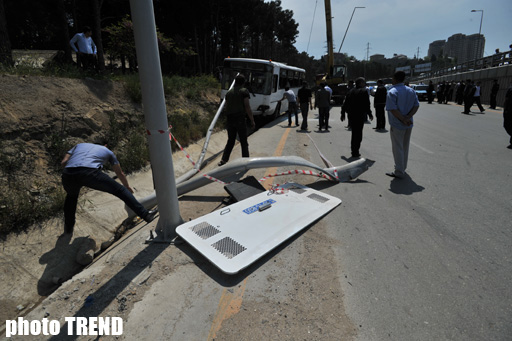 Road Police releases official information with regard to accident in Baku (version 3) (PHOTOS) - Gallery Image
