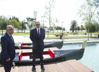 "Azerbaijani President attends opening of ""Small Venetian town"" at Seaside National Park (PHOTO) - Gallery Thumbnail"