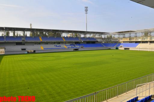 Azərbaycanda tikilən yeni stadiondan son görüntülər (FOTO) - Gallery Image