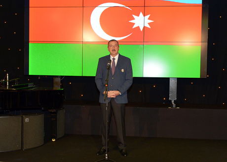 President: Azerbaijan hopes athletes will represent country worthily in this competition and raise its flag (PHOTO)