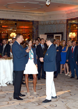 President: Azerbaijan hopes athletes will represent country worthily in this competition and raise its flag (PHOTO) - Gallery Image