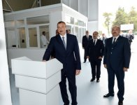 President Ilham Aliyev visits Jalilabad Broiler`s newly-reconstructed poultry meat production facility (PHOTO) - Gallery Thumbnail