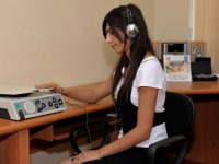 Heydar Aliyev Foundation presents 'Mini-information lab' to Blind People Society (PHOTO) - Gallery Thumbnail