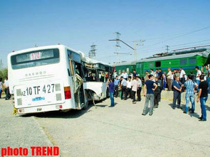 Train and bus collide in Baku, leaving dead and injured (UPDATED 4) (PHOTO)