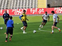 Futbol üzrə Azərbaycan millisi Portuqaliya ilə oyuna ciddi hazırlaşır (FOTO) - Gallery Thumbnail