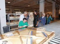 Azerbaijan`s first lady and spouse of Turkish Premier visit piano factory in Gabala (PHOTO) - Gallery Thumbnail