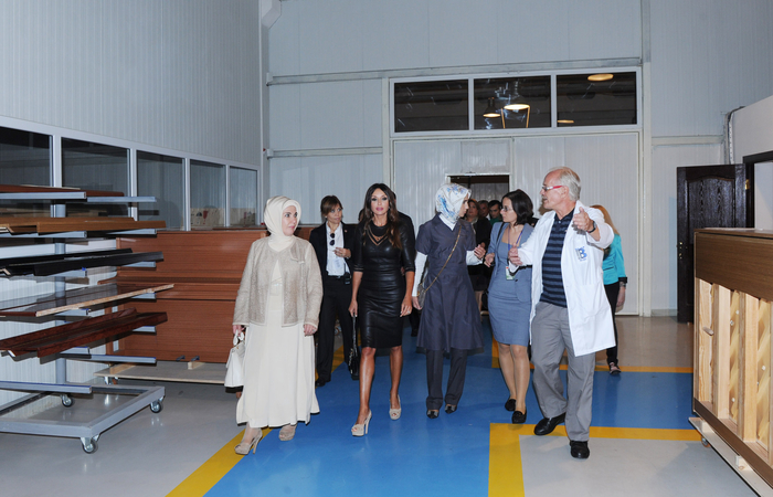 Azerbaijan`s first lady and spouse of Turkish Premier visit piano factory in Gabala (PHOTO)