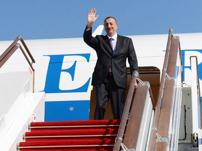 Azerbaijani President heads to France for working visit