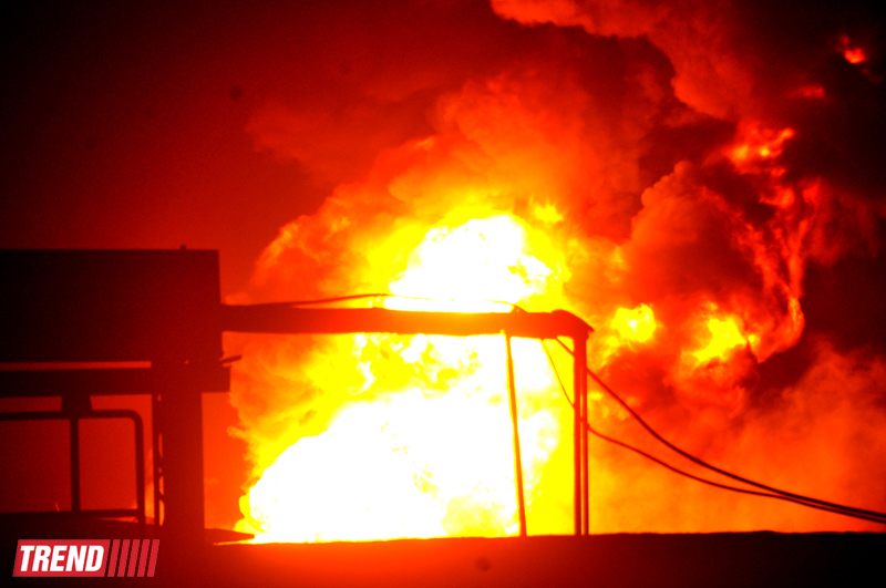 Fire at the plant in Sumgait extinguished (UPDATE)(PHOTO) - Gallery Image