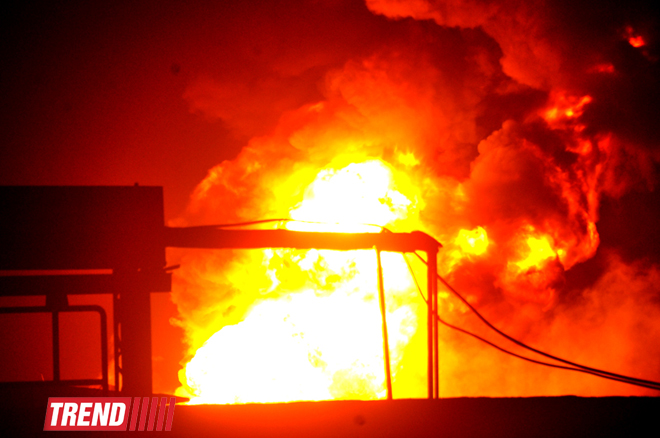 Fire at the plant in Sumgait extinguished (UPDATE)(PHOTO)