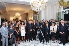 Ilham Aliyev and his spouse attends reception on the occasion of opening of Azerbaijani Cultural Center in Paris (PHOTO) - Gallery Thumbnail