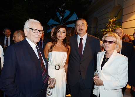 Ilham Aliyev and his spouse attends reception on the occasion of opening of Azerbaijani Cultural Center in Paris (PHOTO) - Gallery Image