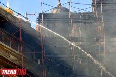 Bakıda Qara Qarayev adına Uşaq Xəstəxanasının həyətində tikintisi başa çatmayan binada yanğın söndürülüb (ƏLAVƏ OLUNUB-3)(FOTO) - Gallery Thumbnail