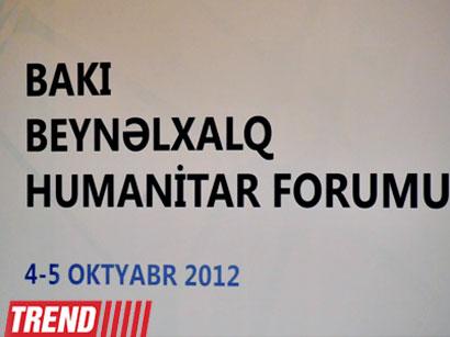 Azərbaycanda II Bakı Beynəlxalq Humanitar Forumu keçirilir (FOTO) - Gallery Image