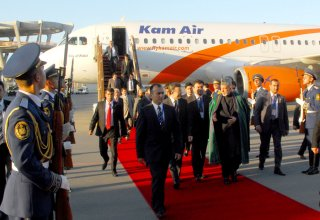 Afghanistan's president arrives in Azerbaijan for ECO summit