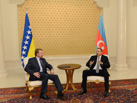 President of Azerbaijan and Chairman of Presidency of Bosnia and Herzegovina meet in private (UPDATE) (PHOTO)