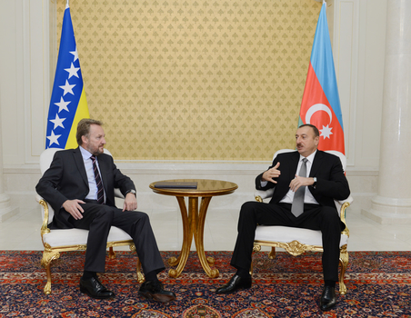 President of Azerbaijan and Chairman of Presidency of Bosnia and Herzegovina meet in private (UPDATE) (PHOTO) - Gallery Image
