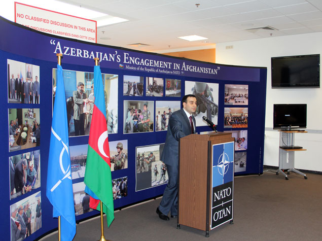 NATO headquarters hosts exhibition Azerbaijan's participation in Afghanistan (PHOTO)