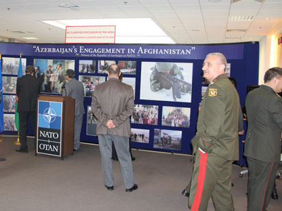NATO headquarters hosts exhibition Azerbaijan's participation in Afghanistan (PHOTO) - Gallery Image