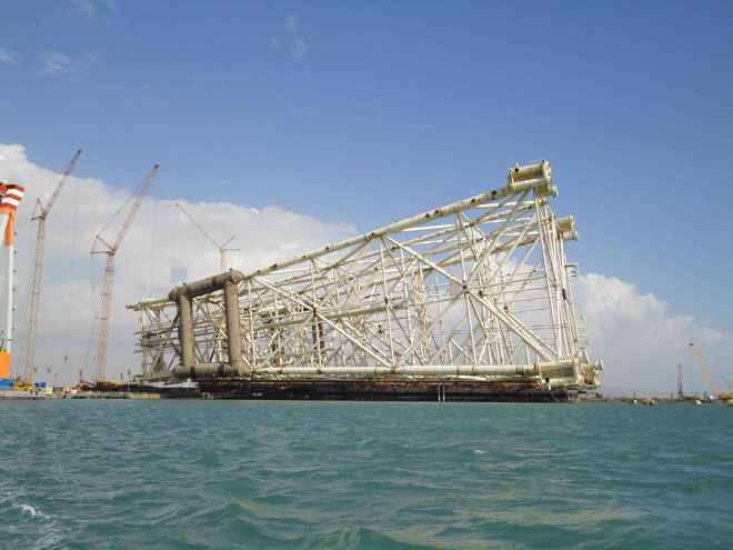 Chirag Oil Project jacket successfully completed in Azerbaijan