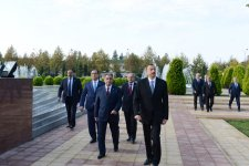 President Ilham Aliyev arrives in Beylagan (PHOTO) - Gallery Thumbnail