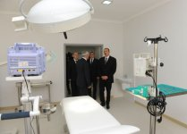 President Ilham Aliyev inspects Saatli Central Hospital after major overhaul (PHOTO) - Gallery Thumbnail