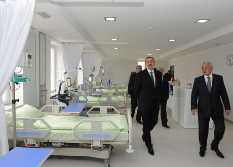 President Ilham Aliyev inspects Saatli Central Hospital after major overhaul (PHOTO)