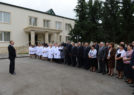 President Ilham Aliyev inspects Saatli Central Hospital after major overhaul (PHOTO) - Gallery Image