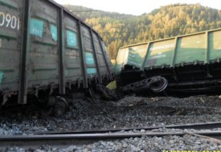 Twelve railway carriages derail in Kazakhstan