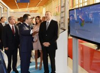 Azerbaijani President and his spouse attend opening of Bakutel-2012 exhibition (PHOTO) - Gallery Thumbnail