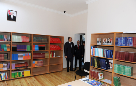 President Ilham Aliyev gets acquainted with reconstructed School 173 of capital's Yasamal District (PHOTO) - Gallery Image