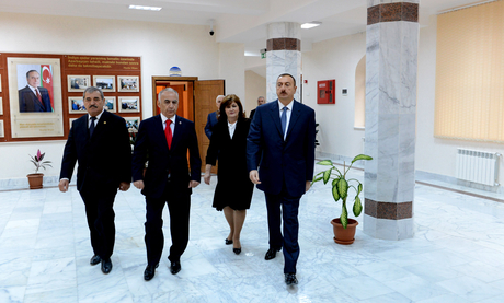 President Ilham Aliyev gets acquainted with reconstructed School 173 of capital's Yasamal District (PHOTO)