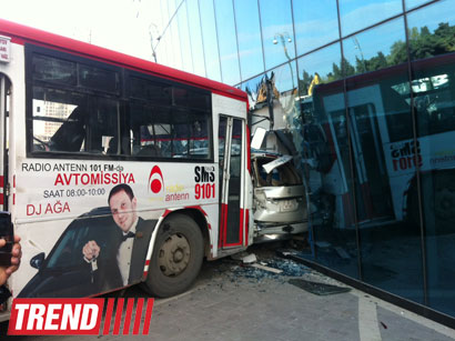 Bus drives into glass enclosure of Shafa Stadium (UPDATED 2) (PHOTO)