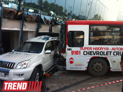Bus drives into glass enclosure of Shafa Stadium (UPDATED 2) (PHOTO) - Gallery Image
