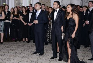 Leyla Aliyeva attended the ceremony on opening of Four Seasons Hotel and exhibition marking 5th anniversary of Baku magazine (PHOTO)