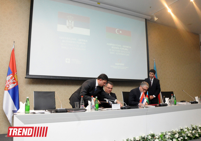 Two documents signed within Azerbaijani-Serbian business forum (PHOTO) - Gallery Image