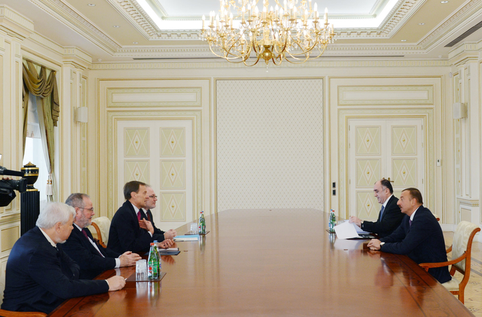 Azerbaijani President receives OSCE Minsk group co-chairs and personal representative of OSCE Chairman-in-Office