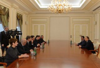 Azerbaijani President receives delegation led by Russia's Astrakhan Region Governor