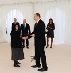 Azerbaijani President and his spouse attend opening ceremony of apartment buildings for disabled and martyr families in Sumgayit (PHOTO) - Gallery Thumbnail