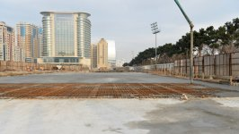President Ilham Aliyev inspects construction work at underground parking lot in Azadlig Square (PHOTO) - Gallery Thumbnail