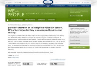 Community: Petitions on White House's website testify to Azerbaijani people's solidarity