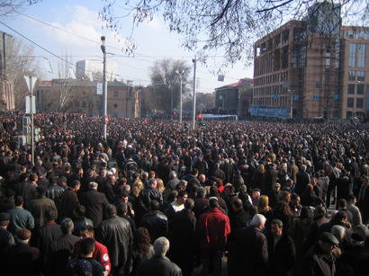 Protest actions start in Armenia