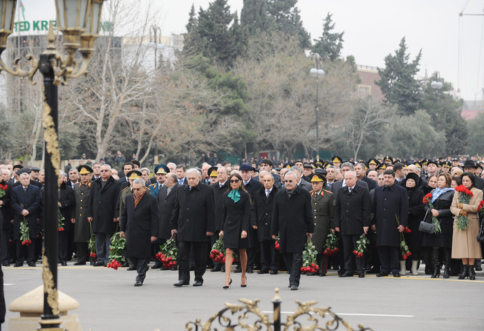 Azerbaijani President, First Lady attend ceremony commemorating Khojaly genocide victims  (UPDATE) (PHOTO) - Gallery Image