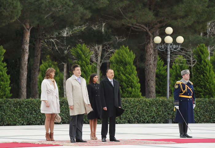 Georgian President officially welcomed in Azerbaijan (PHOTO) - Gallery Image