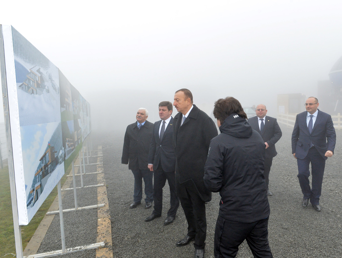 President Ilham Aliyev inspects construction of Tufan Alpine Skiing Recreation Complex (PHOTO) - Gallery Image