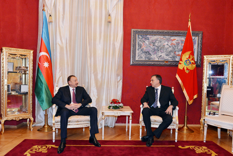 Presidents of Azerbaijan and Montenegro meet in private
