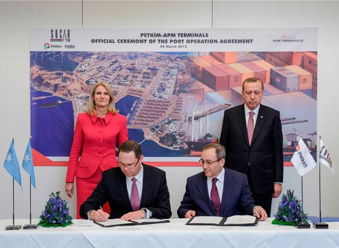 """""""Petkim"""" limanının idarə olunması üzrə investisiya sazişi imzalanıb (FOTO)"""
