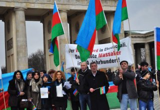 Protest rally in connection with the Day of Genocide of Azerbaijanis held in Berlin (PHOTO)