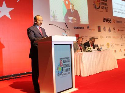 Делегация Азербайджана принимает участие в XVI Евразийском экономическом саммите в Стамбуле (ФOTO) - Gallery Image