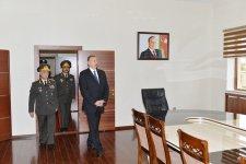 Президент Азербайджана Ильхам Алиев осмотрел Н-скую воинскую часть Внутренних войск в Гаджигабуле после реконструкции (ФОТО) - Gallery Thumbnail